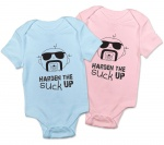 Harden the SUCK Up Baby Onesie (Blue or Pink)